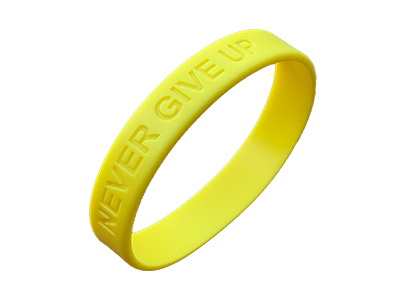 Produktbild NEVER GIVE UP-Wristband Vorderseite