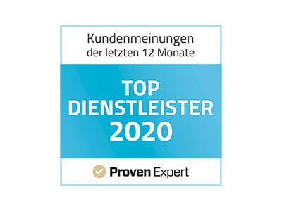 Ausgezeichnet als Top Dienstleister 2020