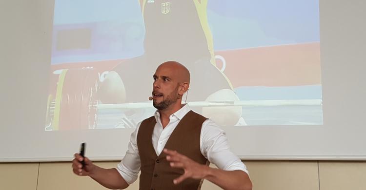 Markus Czerner bei seinem Workshop Strategie Spitzensport