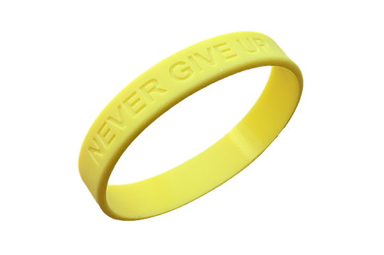 Das NEVER GIVE UP-Wristband von Markus Czerner